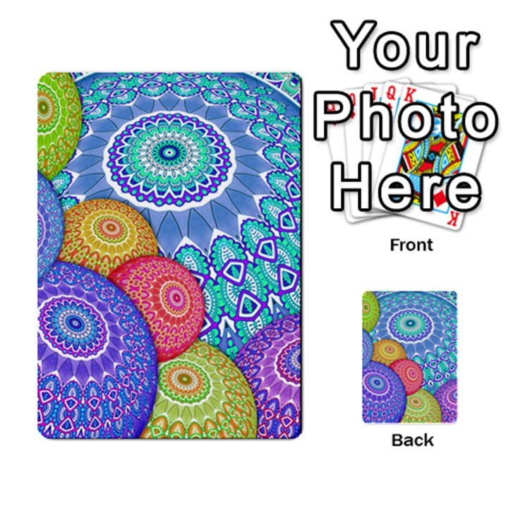 India Ornaments Mandala Balls Multicolored Multi-purpose Cards (Rectangle)