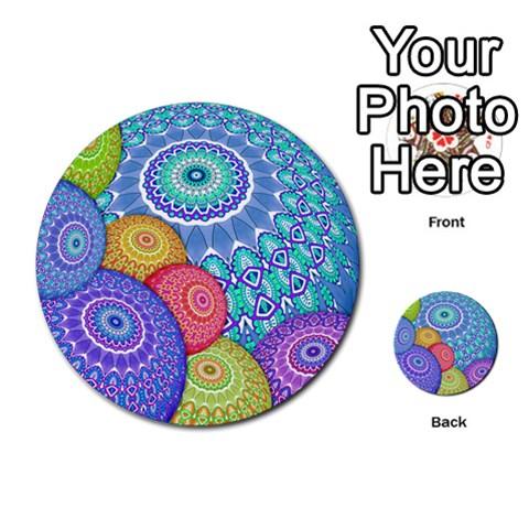 India Ornaments Mandala Balls Multicolored Multi-purpose Cards (Round)