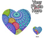 India Ornaments Mandala Balls Multicolored Multi-purpose Cards (Heart)  Front 50