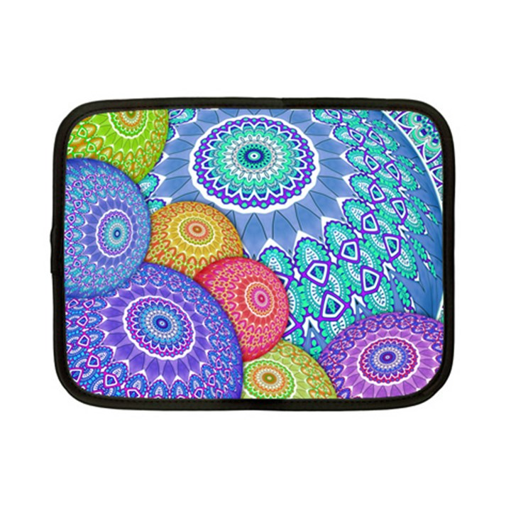 India Ornaments Mandala Balls Multicolored Netbook Case (Small)