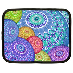 India Ornaments Mandala Balls Multicolored Netbook Case (large)