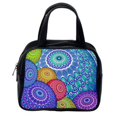 India Ornaments Mandala Balls Multicolored Classic Handbags (one Side)