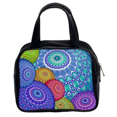 India Ornaments Mandala Balls Multicolored Classic Handbags (2 Sides)