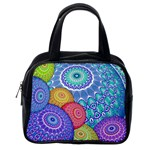 India Ornaments Mandala Balls Multicolored Classic Handbags (2 Sides) Back