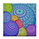 India Ornaments Mandala Balls Multicolored Face Towel Front