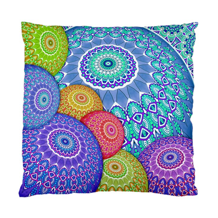 India Ornaments Mandala Balls Multicolored Standard Cushion Case (One Side)