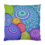 India Ornaments Mandala Balls Multicolored Standard Cushion Case (Two Sides) Back