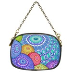 India Ornaments Mandala Balls Multicolored Chain Purses (Two Sides)  Back