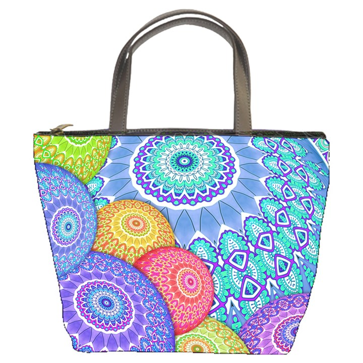 India Ornaments Mandala Balls Multicolored Bucket Bags