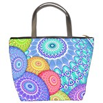 India Ornaments Mandala Balls Multicolored Bucket Bags Back