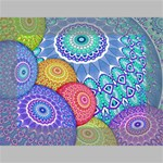 India Ornaments Mandala Balls Multicolored Mini Canvas 7  x 5  7  x 5  x 0.875  Stretched Canvas