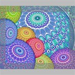 India Ornaments Mandala Balls Multicolored Canvas 10  x 8  10  x 8  x 0.875  Stretched Canvas