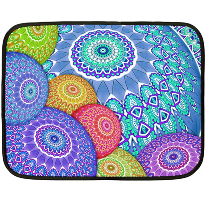 India Ornaments Mandala Balls Multicolored Double Sided Fleece Blanket (Mini)