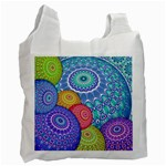 India Ornaments Mandala Balls Multicolored Recycle Bag (One Side) Front