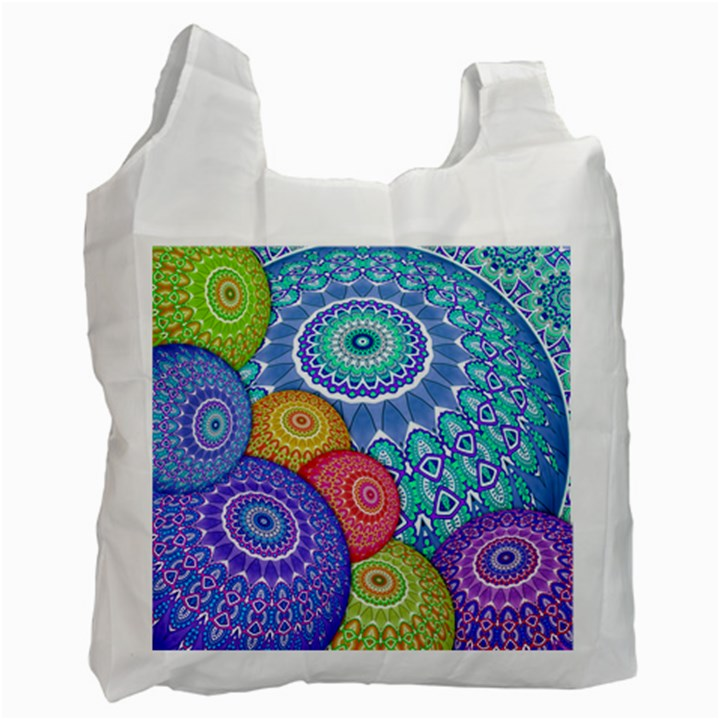 India Ornaments Mandala Balls Multicolored Recycle Bag (Two Side)