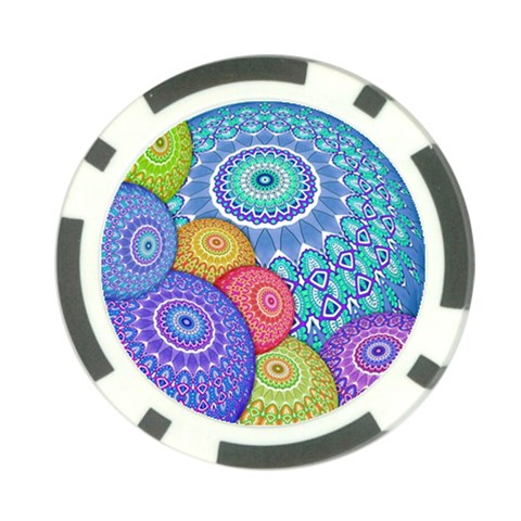 India Ornaments Mandala Balls Multicolored Poker Chip Card Guards (10 pack)