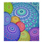 India Ornaments Mandala Balls Multicolored Shower Curtain 66  x 72  (Large)  58.75 x64.8 Curtain
