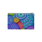 India Ornaments Mandala Balls Multicolored Cosmetic Bag (Small)  Back