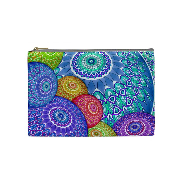 India Ornaments Mandala Balls Multicolored Cosmetic Bag (Medium)
