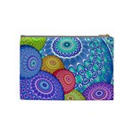 India Ornaments Mandala Balls Multicolored Cosmetic Bag (Medium)  Back
