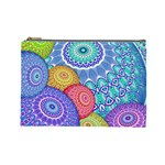 India Ornaments Mandala Balls Multicolored Cosmetic Bag (Large)  Front