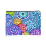 India Ornaments Mandala Balls Multicolored Cosmetic Bag (Large)  Back
