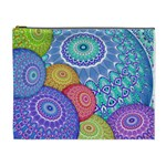 India Ornaments Mandala Balls Multicolored Cosmetic Bag (XL) Front