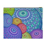 India Ornaments Mandala Balls Multicolored Cosmetic Bag (XL) Back