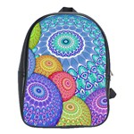 India Ornaments Mandala Balls Multicolored School Bags(Large)  Front