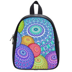 India Ornaments Mandala Balls Multicolored School Bags (Small)