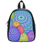 India Ornaments Mandala Balls Multicolored School Bags (Small)  Front