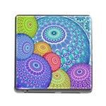 India Ornaments Mandala Balls Multicolored Memory Card Reader (Square) Front