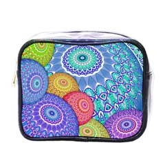 India Ornaments Mandala Balls Multicolored Mini Toiletries Bags