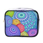 India Ornaments Mandala Balls Multicolored Mini Toiletries Bags Front