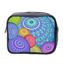 India Ornaments Mandala Balls Multicolored Mini Toiletries Bag 2 Side