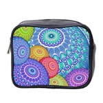 India Ornaments Mandala Balls Multicolored Mini Toiletries Bag 2-Side Front