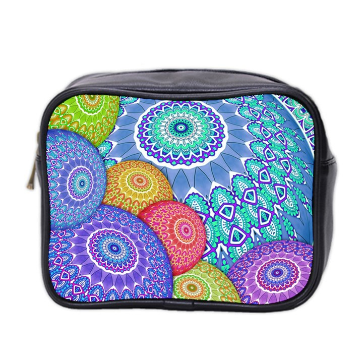 India Ornaments Mandala Balls Multicolored Mini Toiletries Bag 2-Side