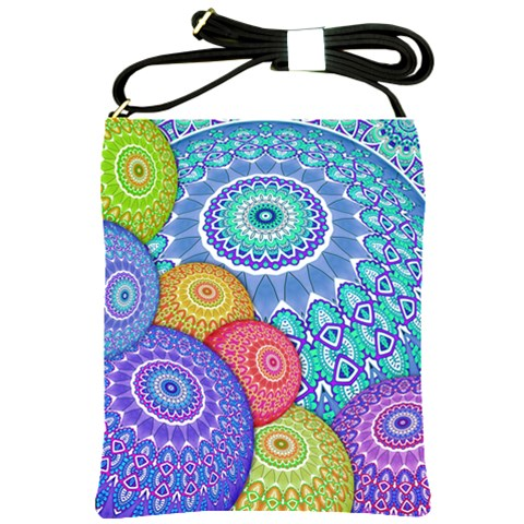 India Ornaments Mandala Balls Multicolored Shoulder Sling Bags