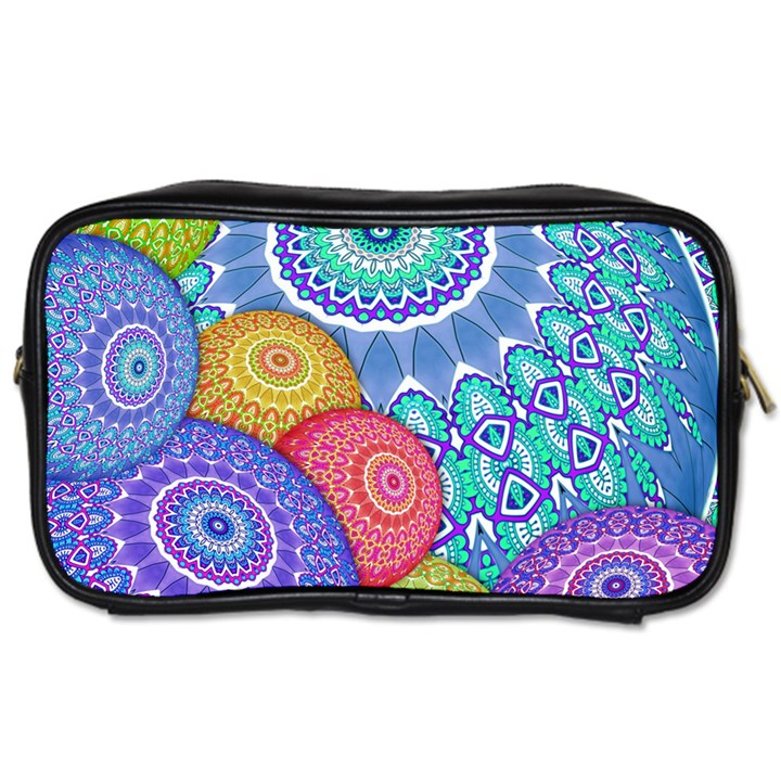 India Ornaments Mandala Balls Multicolored Toiletries Bags
