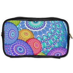 India Ornaments Mandala Balls Multicolored Toiletries Bags 2 Side