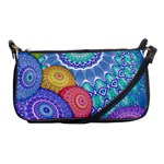 India Ornaments Mandala Balls Multicolored Shoulder Clutch Bags Front