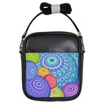 India Ornaments Mandala Balls Multicolored Girls Sling Bags Front