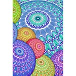 India Ornaments Mandala Balls Multicolored 5.5  x 8.5  Notebooks Front Cover Inside