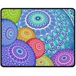 India Ornaments Mandala Balls Multicolored Fleece Blanket (Medium)  60 x50 Blanket Front