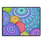 India Ornaments Mandala Balls Multicolored Fleece Blanket (Small) 50 x40 Blanket Front