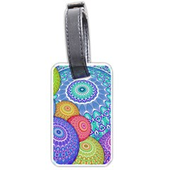 India Ornaments Mandala Balls Multicolored Luggage Tags (One Side)