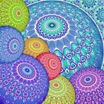India Ornaments Mandala Balls Multicolored Magic Photo Cubes Side 2