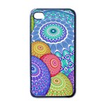 India Ornaments Mandala Balls Multicolored Apple iPhone 4 Case (Black) Front