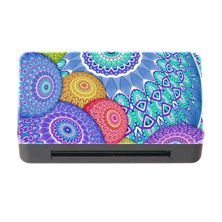 India Ornaments Mandala Balls Multicolored Memory Card Reader with CF