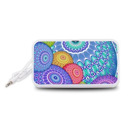 India Ornaments Mandala Balls Multicolored Portable Speaker (White)